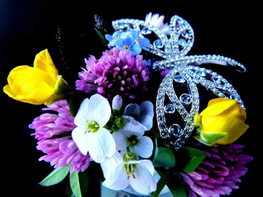 Wild flowers with a bit of bling