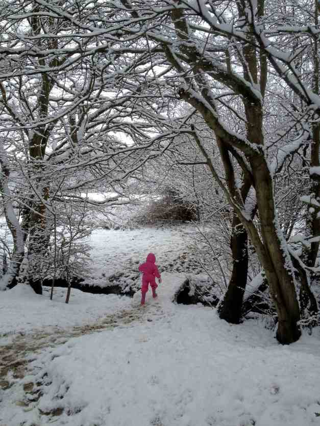 Girl in Pink Snowsuit low res